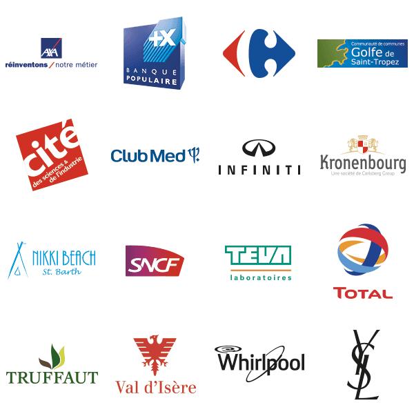 Logos de clients de clés USB personnalisées ayant déjà fait faire des clés USB publicitaires à myusb.be