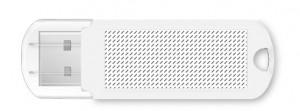 Clé USB en plastique Spectra-zone d'impression