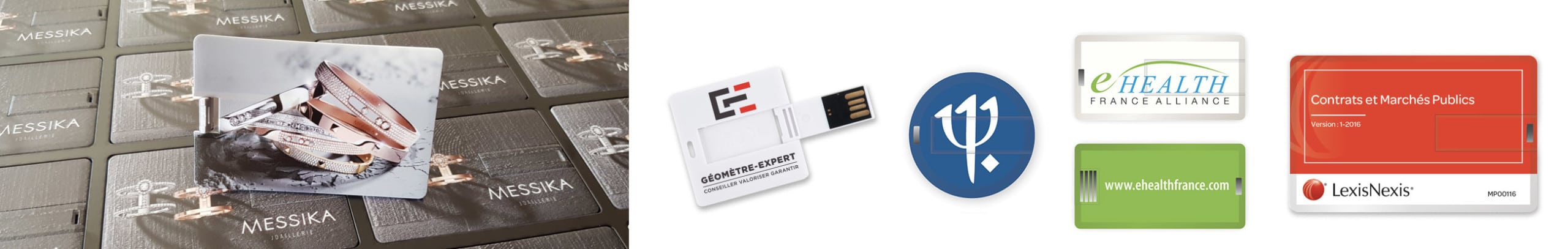 Ensemble De Cls Cartes Visite USB