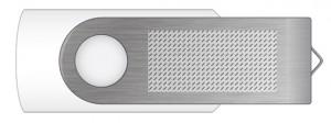 clé USB personnalisable twister- zone d'impression