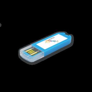 Clé USB personnalisée Spectra-V2 bleu