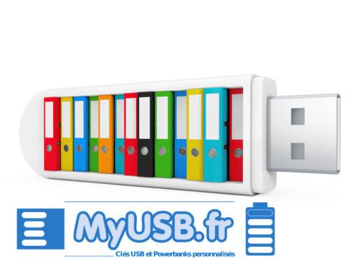 Une clé USB personnalisée par ses données préchargées