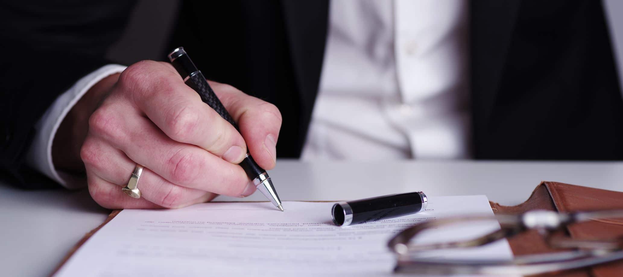 signature chez le notaire